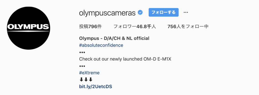 Instagram feature account olympus