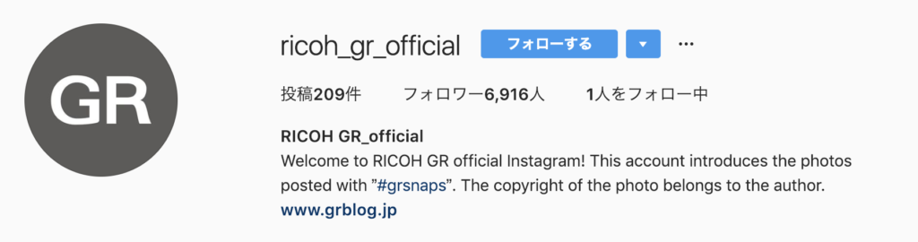 Instagram feature account ricoh