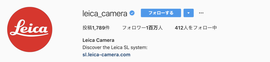 Instagram feature account leica