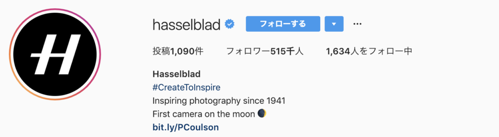 Instagram feature account hasselblad