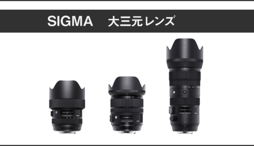SIGMA 大三元レンズ