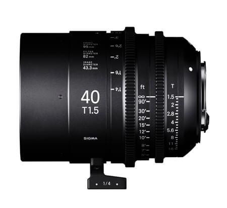 SIGMA 40mm T1.5