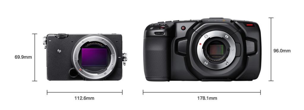 比較:SIGMA fp vs Blackmagic Pocket Cinema Camera 4K